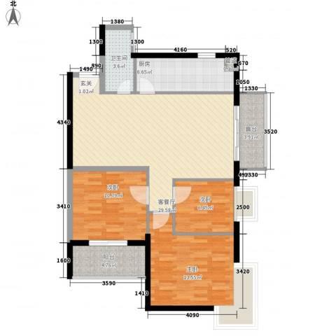 嘉辉豪庭3室1厅1卫1厨112.00㎡户型图