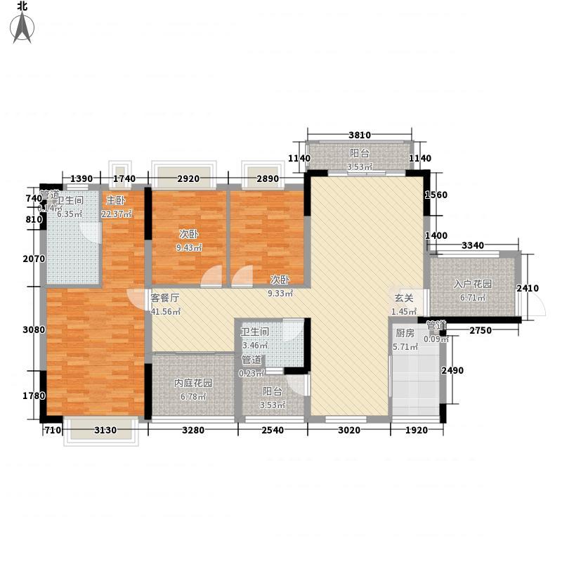保利香槟花园144.00㎡保利香槟花园户型图15座01单元4室2厅2卫1厨户型4室2厅2卫1厨