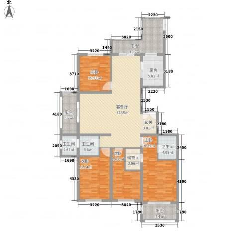 安阳义乌国际商贸城/义乌城4室1厅3卫1厨191.00㎡户型图