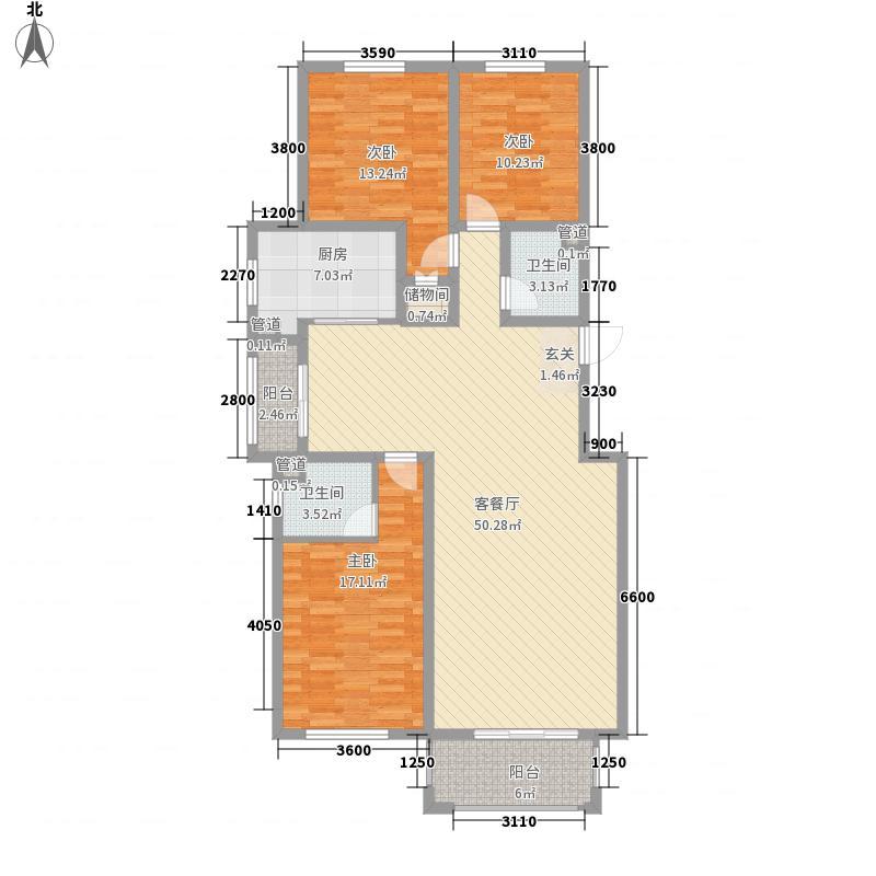 锦麟144.75㎡C户型3室2厅2卫
