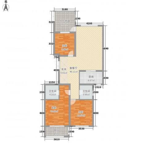 安阳义乌国际商贸城/义乌城3室1厅2卫1厨151.00㎡户型图