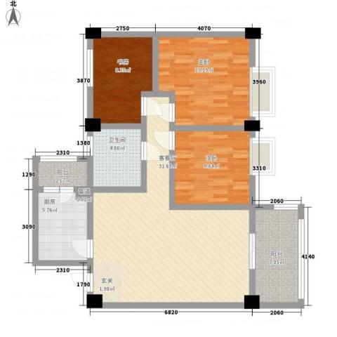 南都邻秀3室1厅1卫1厨102.00㎡户型图