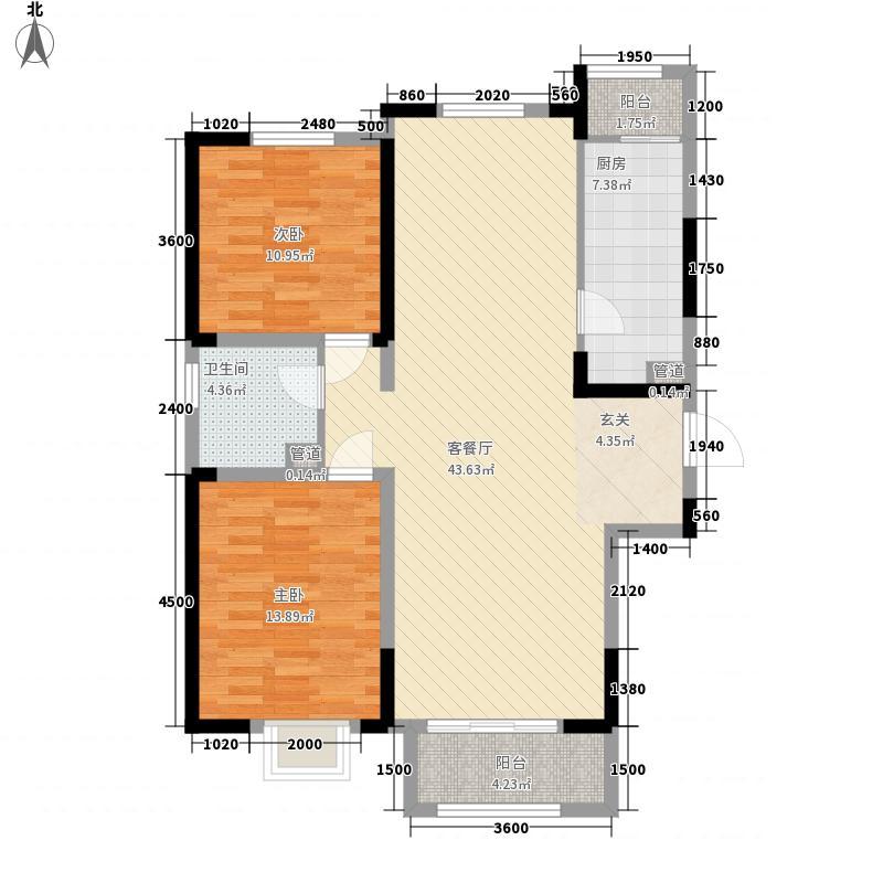 茂华紫苑公馆13、14#A31户型