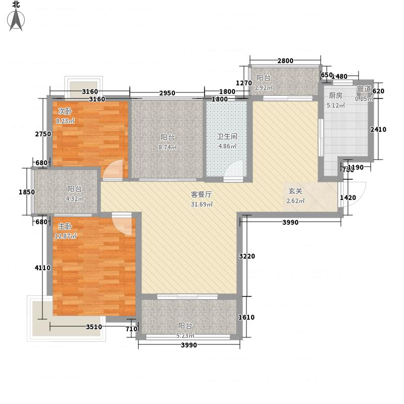 景隆现代城105.85㎡景隆现代城户型图K户型2室2厅1卫1厨户型2室2厅1卫1厨
