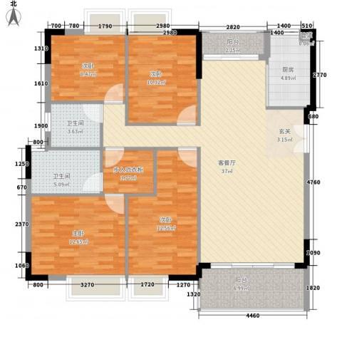 绿湖豪城4室1厅2卫1厨150.00㎡户型图
