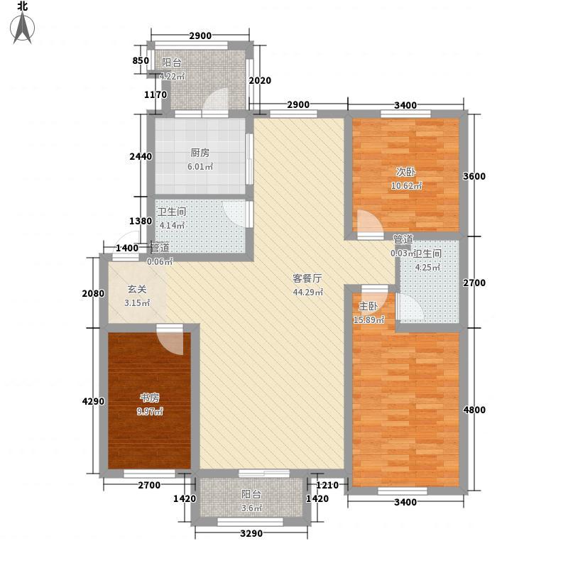 君海・朗郡134.38㎡君海・朗郡户型图DC-E-013室2厅2卫户型3室2厅2卫