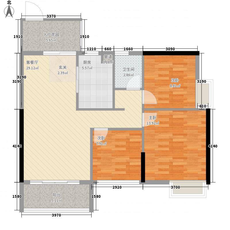 达鑫江滨新城95.00㎡达鑫江滨新城户型图10-11栋标准层02户型3室2厅1卫1厨户型3室2厅1卫1厨