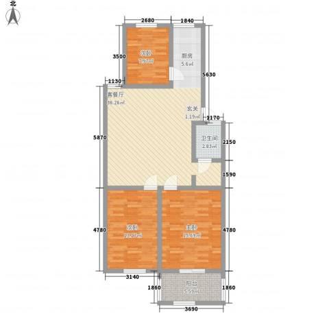 龙凤佳园3室1厅1卫0厨93.00㎡户型图
