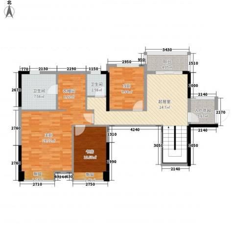 东方新城3室0厅2卫0厨128.00㎡户型图