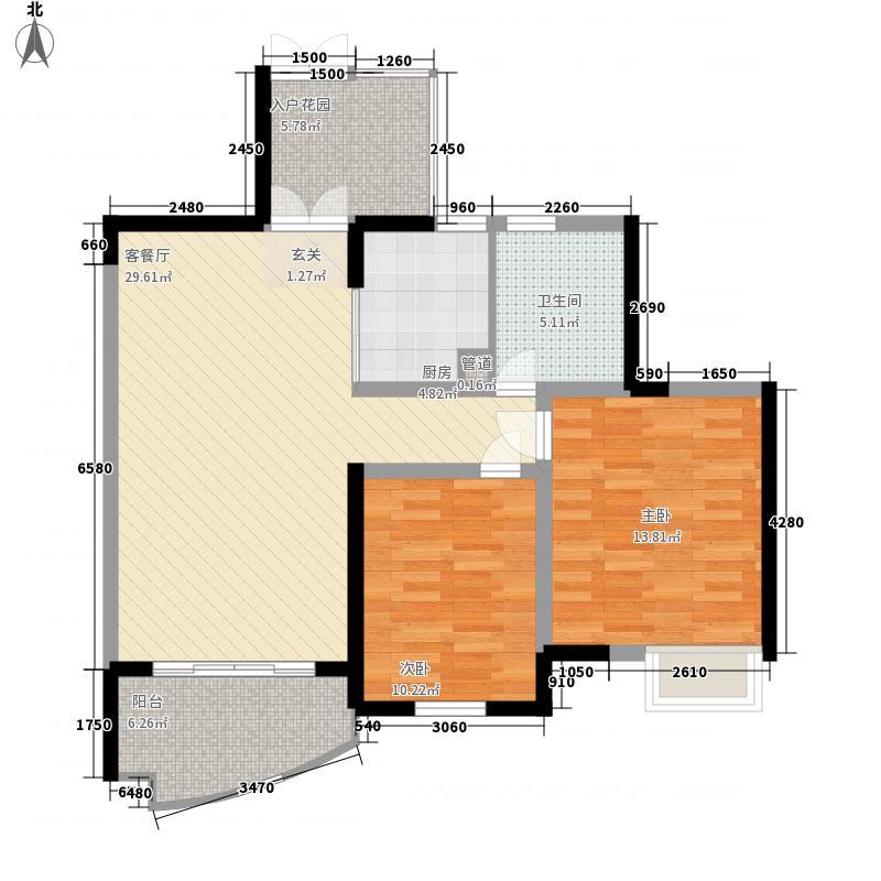世纪城龙锦苑户型2室