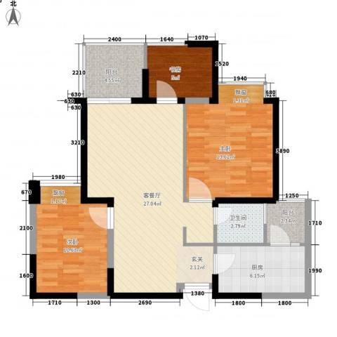 小平岛E组团3室1厅1卫1厨102.00㎡户型图