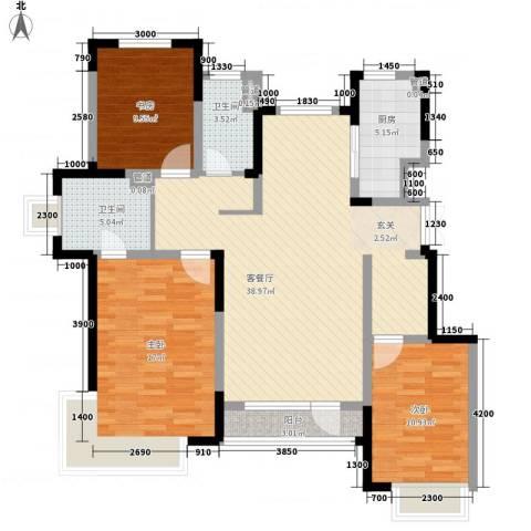 藏珑16203室1厅2卫1厨126.00㎡户型图