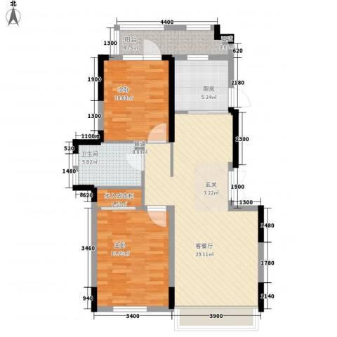 藏珑16202室1厅1卫1厨87.00㎡户型图