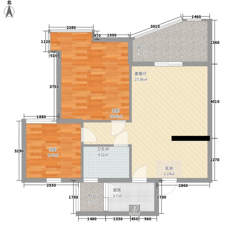 聚仙阁82.27㎡聚仙阁户型图1号楼D2户型2室2厅1卫1厨户型2室2厅1卫1厨