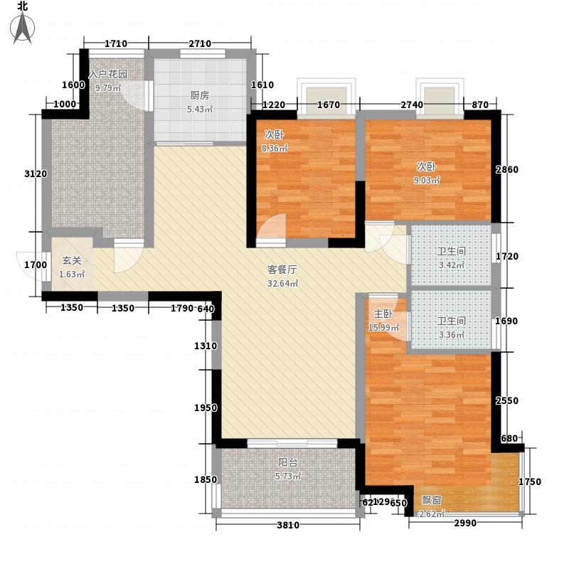 娱乐城3-2-2-1-4户型3室2厅2卫1厨