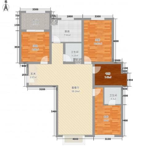 四环花园4室1厅2卫1厨146.00㎡户型图