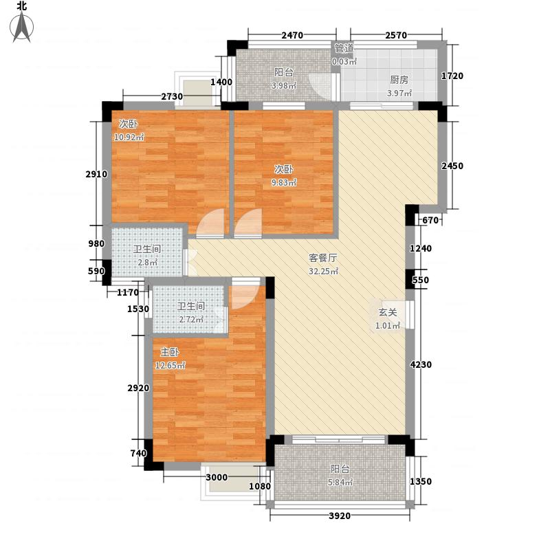 鹤山翡翠华府11.00㎡C1-02/D2-01/C2-01/D2-02/D3-01户型3室2厅2卫1厨