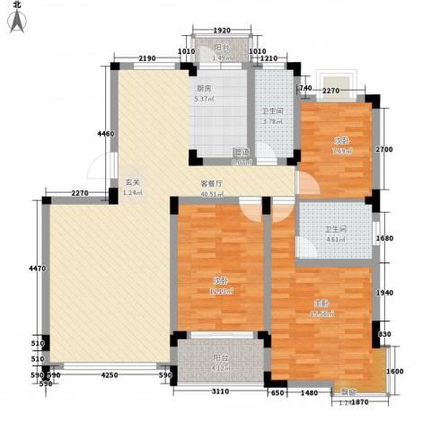金菊花都3室1厅2卫0厨129.00㎡户型图