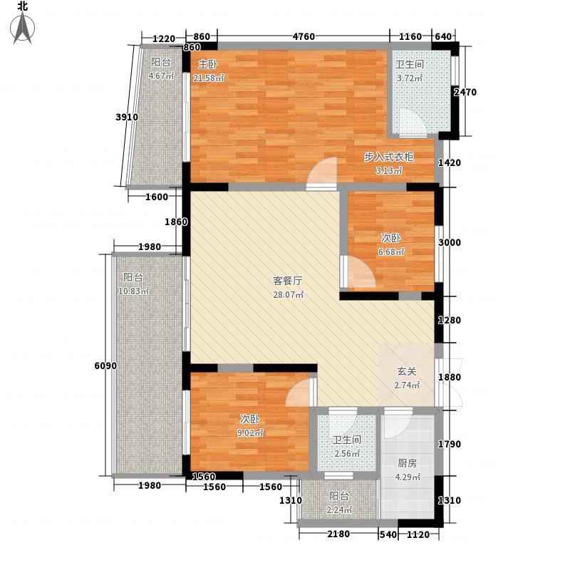 金三角建汇中心130.21㎡金三角建汇中心户型图4户型3室2厅2卫1厨户型3室2厅2卫1厨