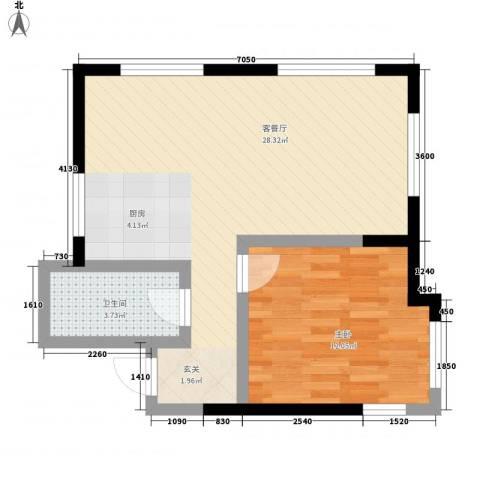 亚泰梧桐公馆1室1厅1卫0厨68.00㎡户型图