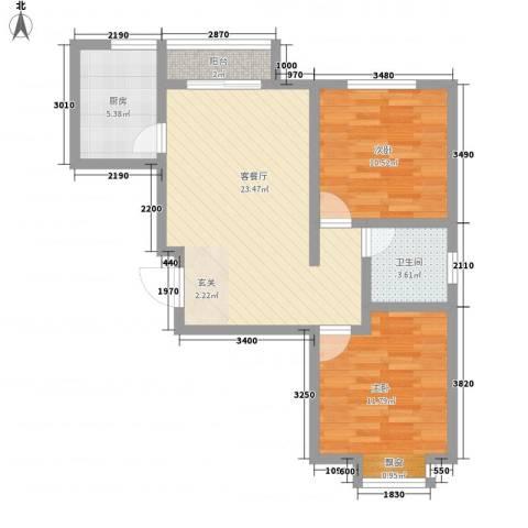 桃源居(桃源人家)2室1厅1卫1厨83.00㎡户型图
