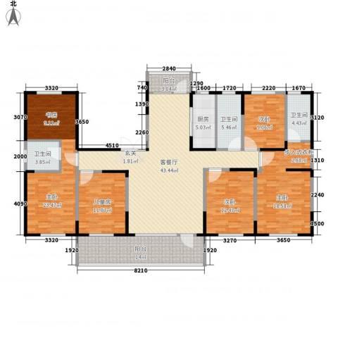 恒通帝景蓝湾5室1厅3卫1厨215.00㎡户型图