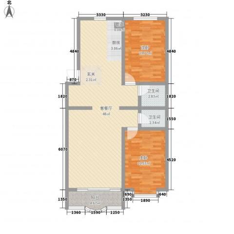 阳光明座2室1厅2卫0厨120.00㎡户型图