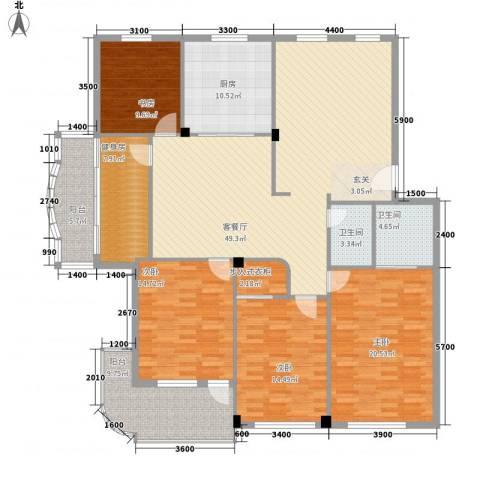晨阳世纪城4室1厅2卫1厨152.78㎡户型图