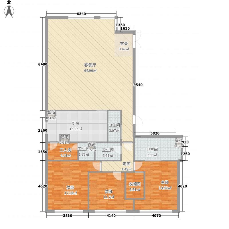 朗豪东港3室1厅4卫1厨235.00㎡户型图