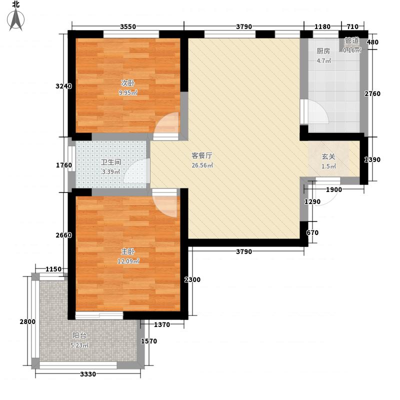 和睦家园90.00㎡和睦家园户型图C2室2厅1卫户型2室2厅1卫