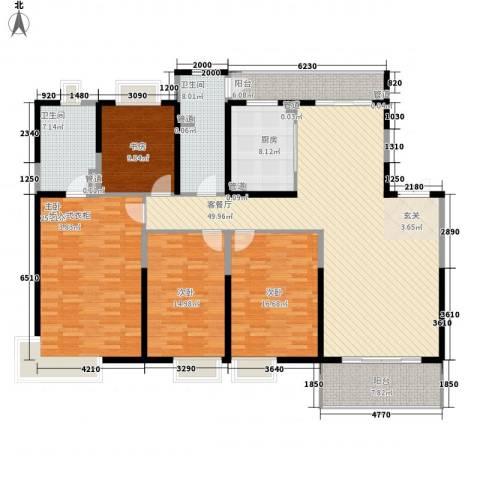 紫薇永和坊4室1厅2卫1厨214.00㎡户型图