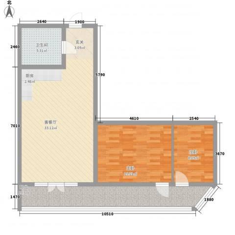 宜洋汽车后市场三期2室1厅1卫0厨75.02㎡户型图