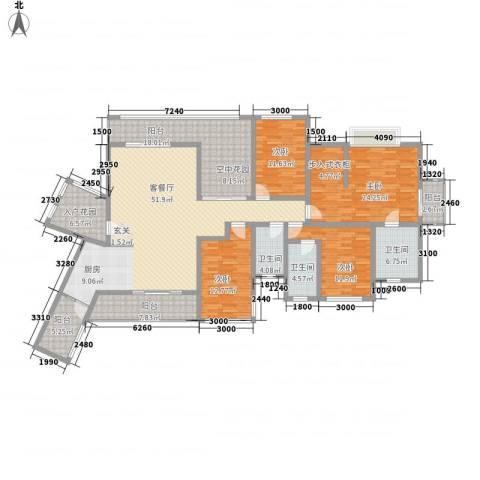 君汇华庭4室1厅3卫0厨182.00㎡户型图
