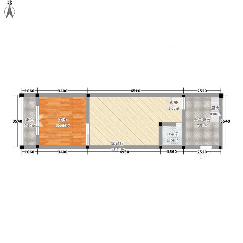 宜洋汽车后市场三期5.65㎡A户型1室1厅1卫1厨