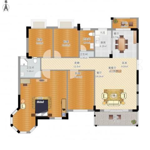 联泰棕榈庄园1室1厅2卫1厨203.00㎡户型图