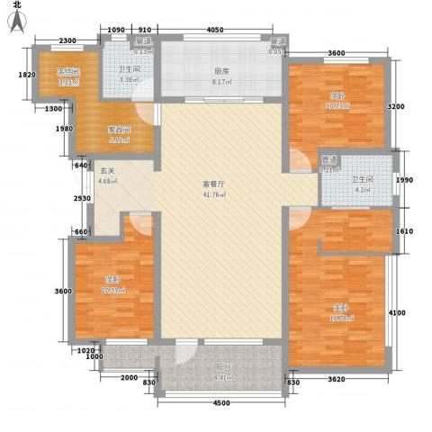 测绘局宿舍3室1厅2卫1厨164.00㎡户型图