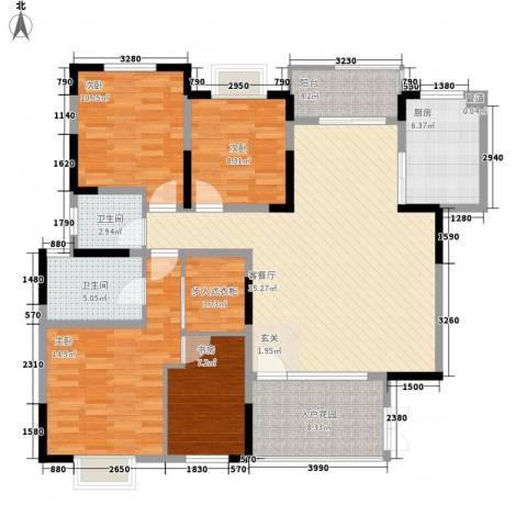 绿地半山国际花园4室1厅2卫1厨152.00㎡户型图