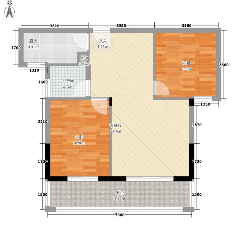 书香领寓86.00㎡户型2室