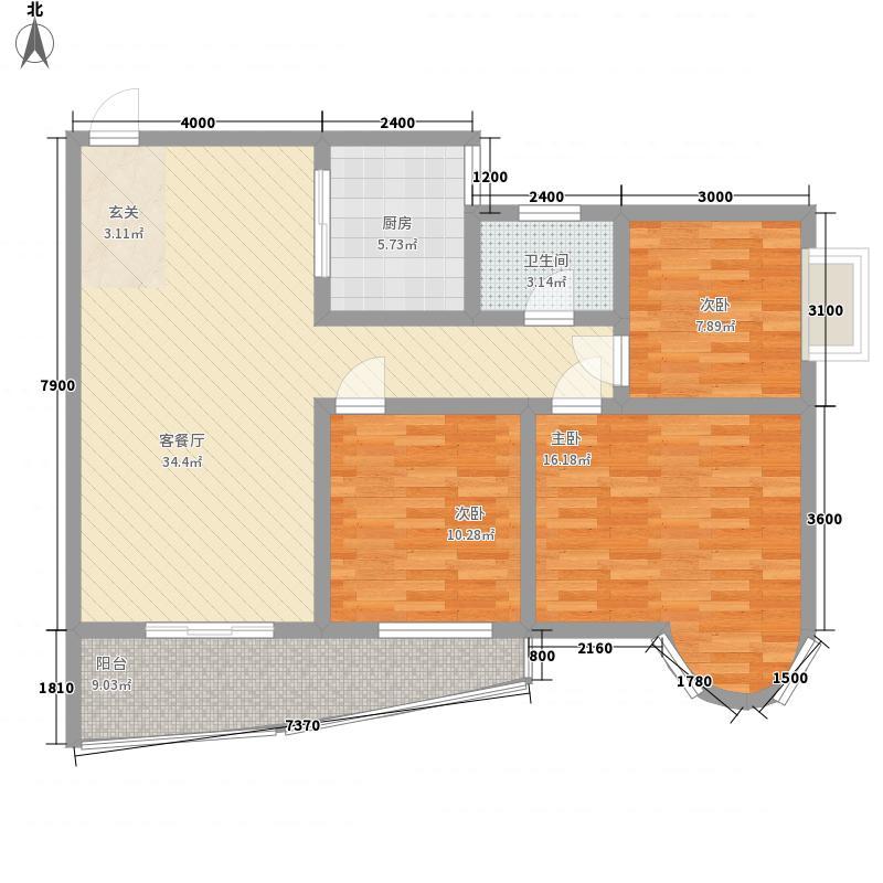 金色湖城118.69㎡金色湖城户型图B户型3室2厅1卫1厨户型3室2厅1卫1厨