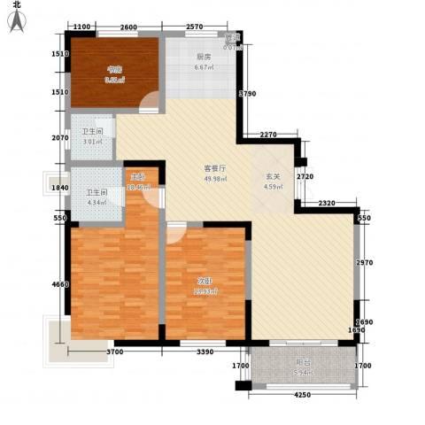 国泰新都3室1厅2卫0厨149.00㎡户型图