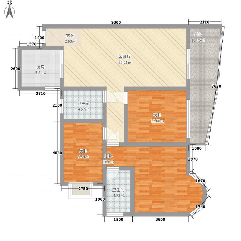 金色湖城132.79㎡金色湖城户型图D户型3室2厅1卫1厨户型3室2厅1卫1厨