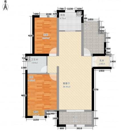 御景华庭2室1厅1卫1厨113.00㎡户型图