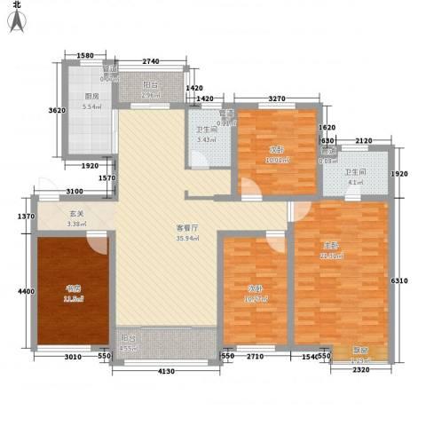 金菊花都4室1厅2卫1厨158.00㎡户型图