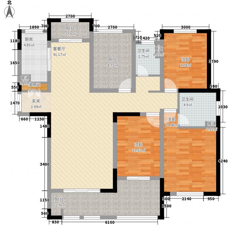 御景华庭164.00㎡御景华庭户型图1,2,3#楼A-1型户型图3室2厅1卫1厨户型3室2厅1卫1厨