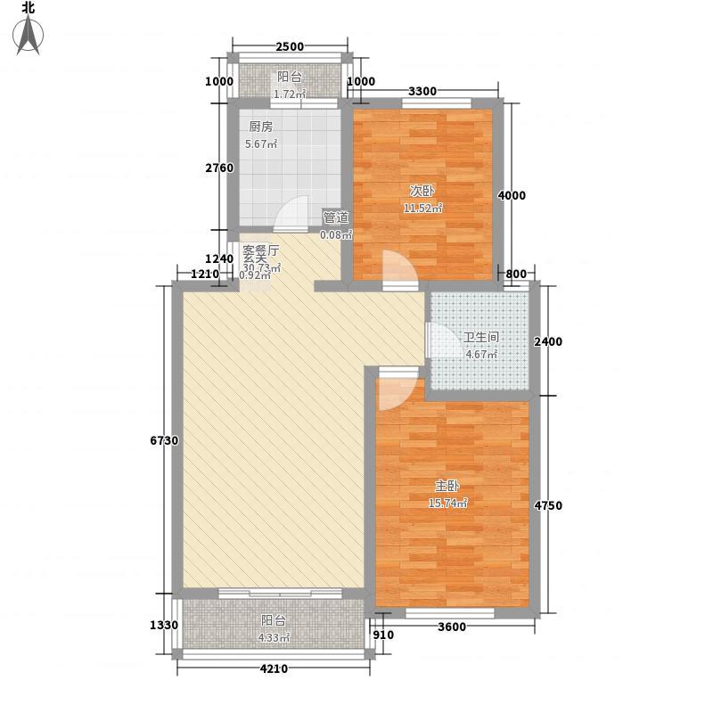 江阳佳苑两居户型2室