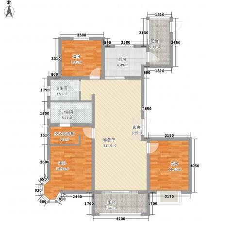 帝景公馆3室1厅2卫1厨141.00㎡户型图