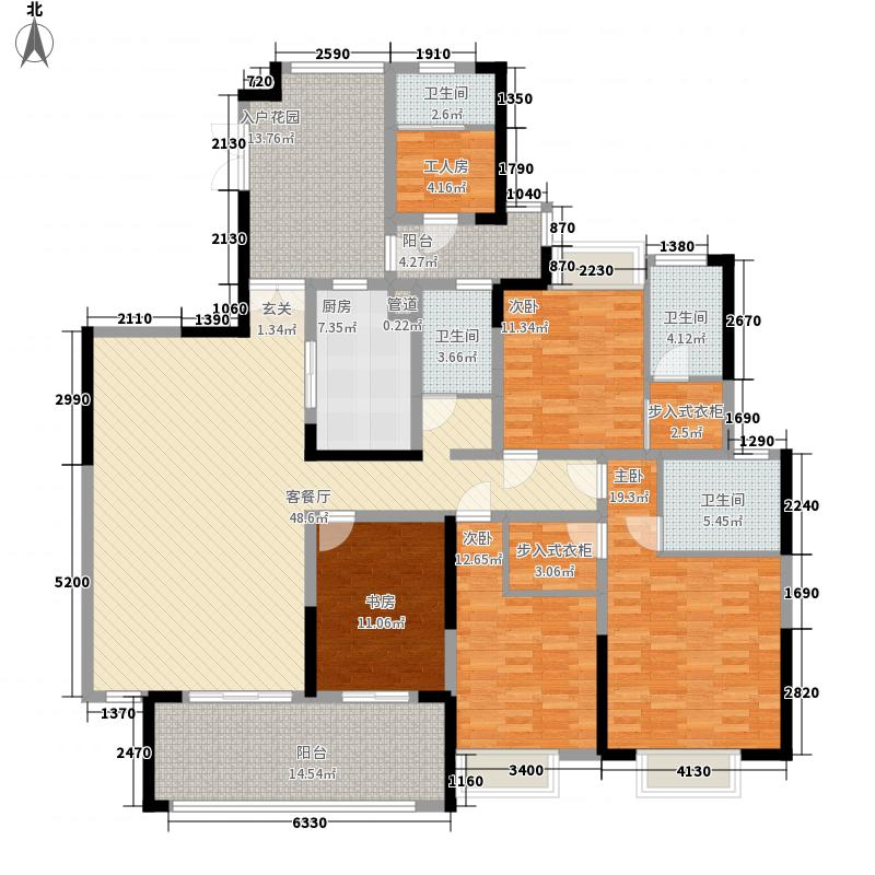 保利高尔夫豪园13.00㎡户型4室