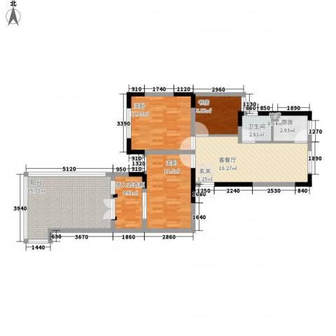 光盛豪庭3室1厅1卫1厨103.00㎡户型图