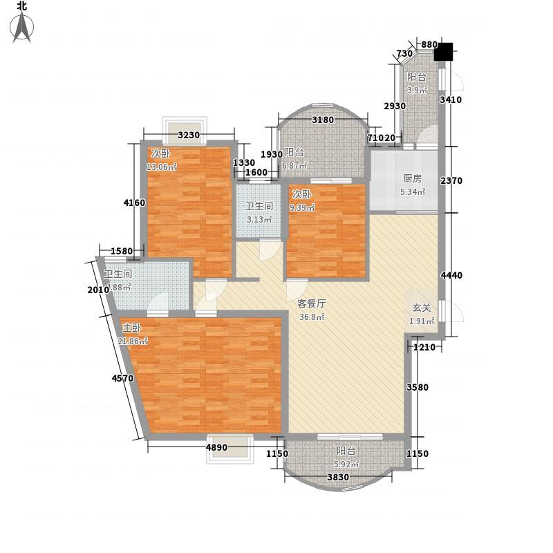 金榜小区户型3室2厅2卫1厨