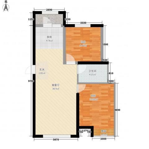 昊宇 山海湾2室1厅1卫0厨85.00㎡户型图